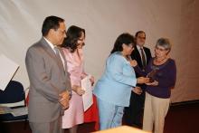 Reconocimiento. Olimpia de Moso fue galardonada por su trabajo en CC. y HH.